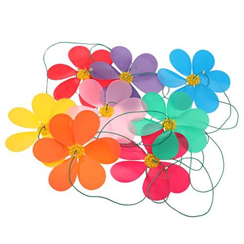 n Blumen Lange Wind Regenbogen Spinner Band für Garten Rasen Balkon Halloween Dekoration, süße Windspiel ()
