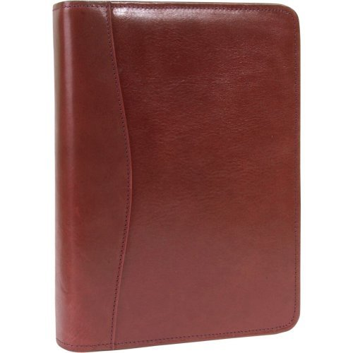 Scully Italian Leather Zip Weekly Organizer - Mahogany by Scully (Zip Scully)