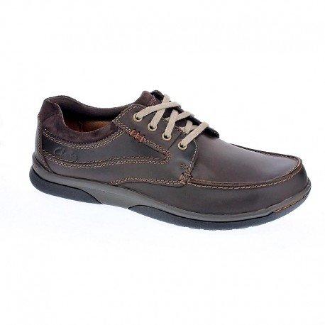 Clarks Détente Homme Chaussures Randle Walk En Cuir Marron