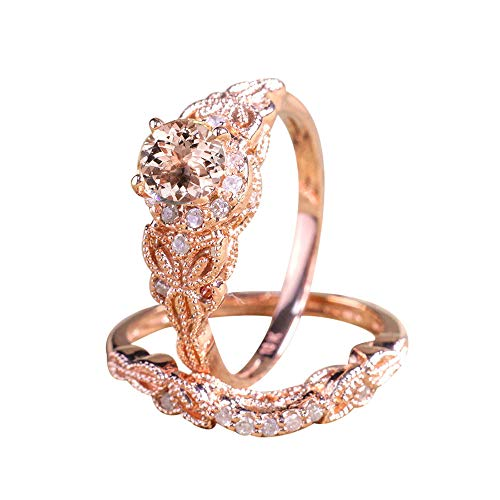 Rose Gold Mikro Intarsien Zirkon Verlobungsring YunYoud siegelring breite fingerringe günstig perlenring trauring silberring platinring modeschmuck schöne partnerringe ringset