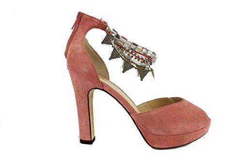 TWIN-SET sandali donna rosa camoscio AH632 (36)