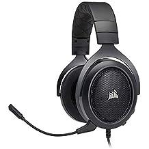 CORSAIR HS50 - Stereo Gaming Headset - Discord Certified Headphones - Carbon (Certified Refurbished)
