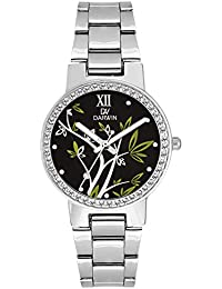 DARWIN BLACK-GREEN WOMENS WATCH | FLORAL DESIGN | HIGH FASHION | NEW GLOSSY BLACK DIAL | TRENDY DESIGN | IMPORTED...