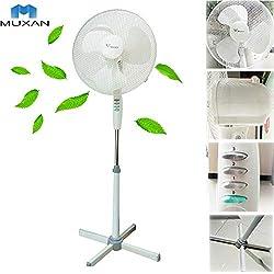 Hangang Ventilateur sur pied Ventilateur Machine à vent Climatiseur Ventilateur de sol Rafraichisseur d'air Hauteur Ajustable