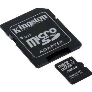 Professionelle Kingston microSDHC 32GB (32Gigabyte) Karte für Blackberry 8530Curve (Rim) mit individueller Formatierung und Standard-SD-Adapter (SDHC Class 4zertifiziert) 8530 Curve