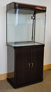 Cabinet Aquarium Fish Tank Tropical / 100L Walnut Colour Height Added /Marine 60cm 2ft with T5 Lighting All Pond Solutions by All Pond Solutions
