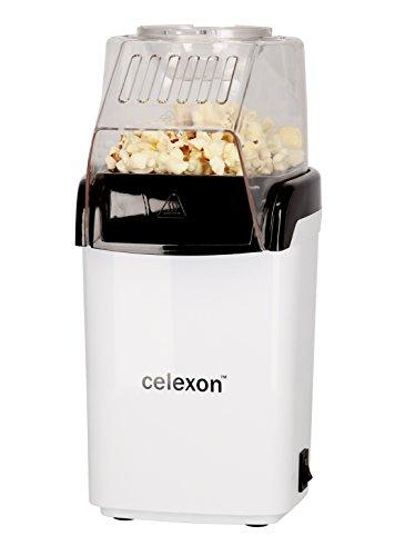 celexon CinePop CP150 Popcornmaschine in weiß | Komplett zerlegbar & einfach zu reinigen | Keine Zugabe von Öl - Popcorn Maker für fettarmes Popcorn (Baby Kostüme Popcorn)