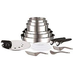 Tefal L9409602 Set de poêles et casseroles - Ingenio Inox Set de 15 pièces - Tous feux dont induction