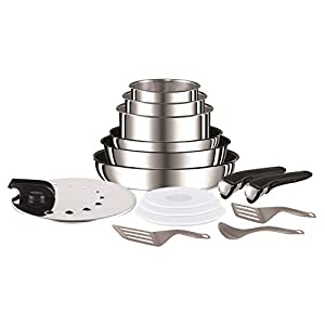 Tefal L94096 Ingenio Préférence Stainless Steel High Quality Non-Stick Pan/Pot Starter Set, 15 Pieces
