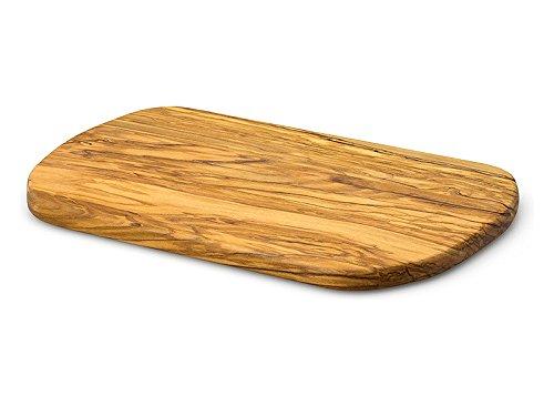 Olivenholz Brett 34x22cm Handarbeit aus nachhaltigen Anbau Schneidebrett Servierbrett Holzbrett Olivenholzbrett Schneideblock Servierplatte