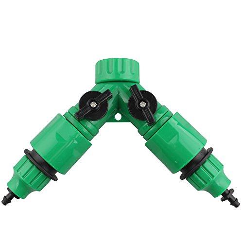 Type Y avec deux voies de valve bidirectionnelle et connecteur mâle Quick Release 3/10,2 cm robinet de jardin adaptateur de tuyau avec 2 de 4 mm/7 mm et 8 mm/11 mm Tuyau d'arrosage Raccord rapide Micro Accessoires