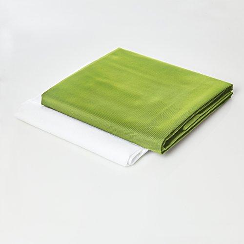 Lumaland Sitzsackhülle ohne Füllung Luxury Riesensitzsack XXL Sitzsack Bezug Hülle PVC Polyester 140 x 180 cm Grün