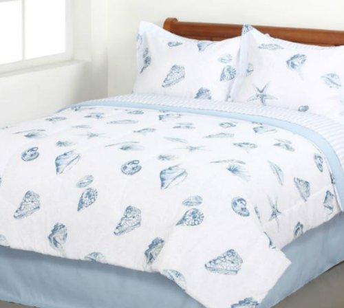 Muscheln, strand Motto, nautisches Twin Tröster Set (6Stück Bett in einer Tasche) -