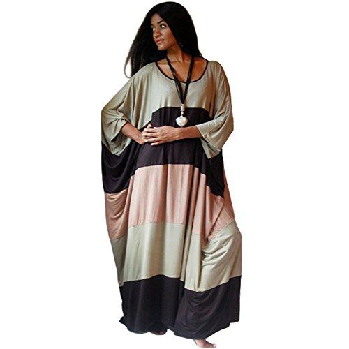Marokkanische Kleidung Für Frauen (LOTUSTRADERS Damen Kaftan Farbenblock Kleid)