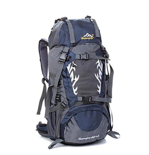40L Outdoor-Freizeit und Camping-Rucksack Bergsteigen Taschen wasserdicht Reiten Profi-Paket Dark Blue