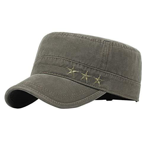 Imagen de itemer 1 pieza moda retro  militar unisex casquillo ocasional del sombrero casquillo que sube al aire libre verde
