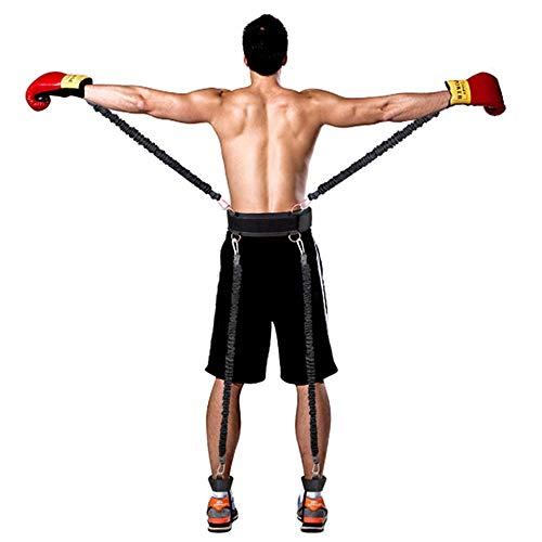 Bande di resistenza di inscatolamento, corda di esercizio pesante corda di esercizio ad alta resistenza con imbracatura Gamba di forza e sistema di cinghie addestramento agilità per Taekwondo Yoga
