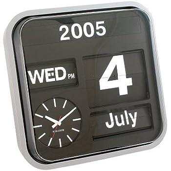 Karlsson Calender Clock Big Flip Silver 43 X 43 Cm Amazon