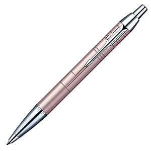 Parker IM Premium Stylo-bille Pointe Moyenne Attributs Chromés Rose métallique [Ancien Modèle]