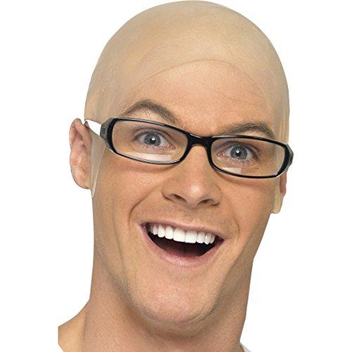Amakando Glatzen Perücke Latex Glatze Glatzkopf Latexglatze Kopf Glatzenperücke Skinhead Karneval Kostüm Zubehör