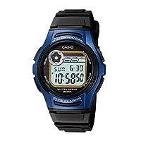 Casio Boys Digital Watch, Digital Display and Plastic Strap W-213-2AVDF