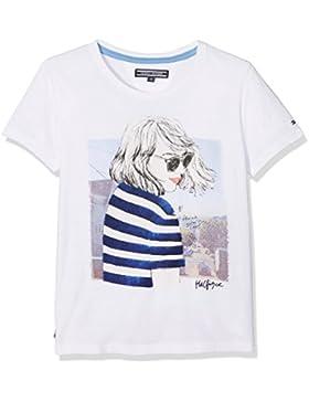 Tommy Hilfiger Mädchen T-Shirt Girls San Fran Cn Knit S/S