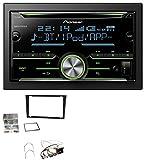 Pioneer FH-X730BT MP3 2DIN Bluetooth AUX CD USB Autoradio für Opel Corsa C Signum Vectra B ab 2005 Charcoal