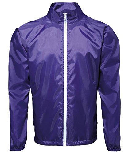 MAKZ Herren Mantel Violett - Purple/ White