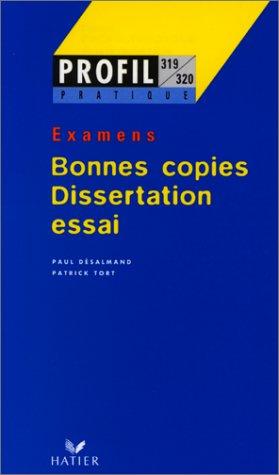 Bonnes copies du Bac : dissertation, essai, examens