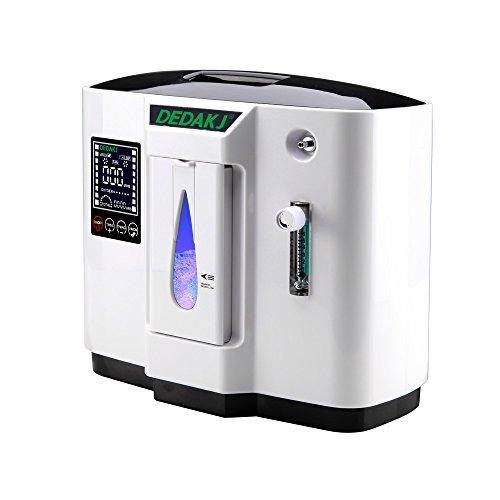 HUKOER Sauerstoffkonzentrator, 1-6L / min einstellbare tragbare Sauerstoffmaschine für den Hausgebrauch und die Reise, 220 V Wechselstrom-Luftbefeuchter