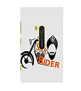 FUSON The Sikh Raider Khanda 3D Hard Polycarbonate Designer Back Case Cover for Nokia Lumia 920 :: Micosoft Lumia 920