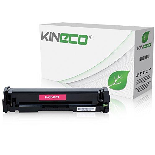 Kineco Toner kompatibel zu HP CF403X Laserjet Pro MFP M277dw, Laserjet Pro MFP M277n, Laserjet Pro MFP M274n, Laserjet Pro M252dw, Laserjet Pro M250 Series - 201X - Magenta 2.300 Seiten