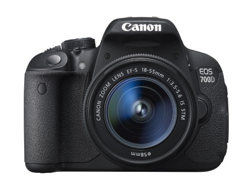 Canon EOS 700D Digital SLR Camera (EF-S 18-55 mm f/3.5-5.6 IS STM Lens, 18 MP, CMOS Sensor, 3 inch LCD)