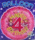 Folienballon-glücklicher 4. Geburtstag-18