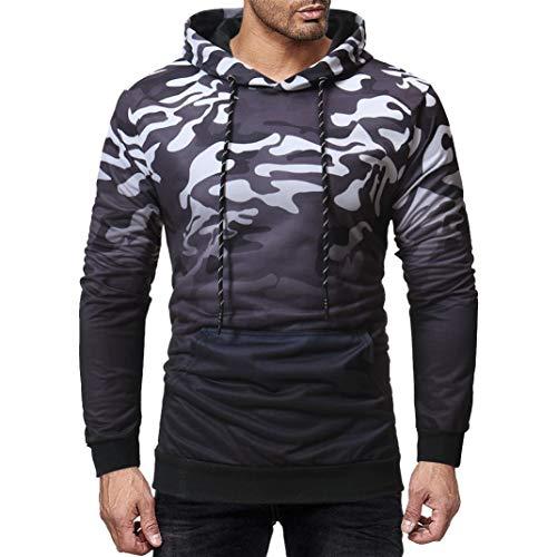 ❤️Sweatshirt Hommes Amlaiworld Hommes Sweat à Capuche Camouflage à Manches Longues Sweat à Capuche Veste Manteau Chaud Vêtement Top Tee Outwear Blouse