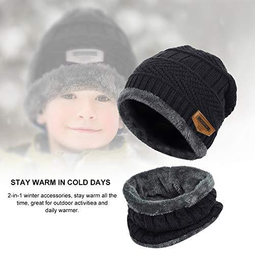 VBIGER Niños Sombrero Caliente de Punto y Bufanda tubular con Forro de. 38a65b576a4
