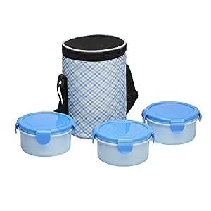 Ruchi Super Lock & Seal Vertical Tiffin Set, Blue