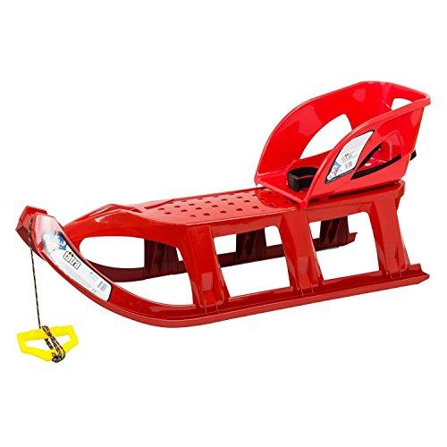 Prosperplast Rodel Long Lenkschlitten Schlitten Kinderschlitten XXL Sitzfläche TATRA 110 cm