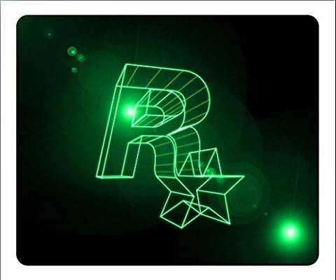 22x 17cm/22,9x 17,8x 0,3cm Maus Pad weich waschbar, die Gaming Größe M Gummi schwarz Ende des Jahres Deals Weihnachten Wish Liste Neue Jahr markdowns-rockstar Spiele Logo (Spiel Des Jahres Liste)