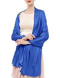 Bridesmay Damen Elegant Seidenschal 180*90cm Seide Halstuch Stola Schal für Kleider in 20 Farben