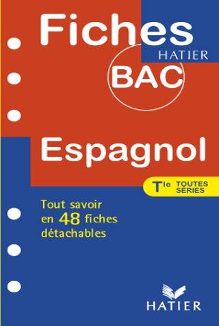 Fiches Bac espagnol, terminales toutes séries