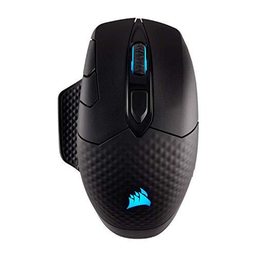Corsair DARK CORE RGB Kabellose Optisch Gaming-Maus (RGB-LED-Beleuchtung, 16.000 DPI) schwarz