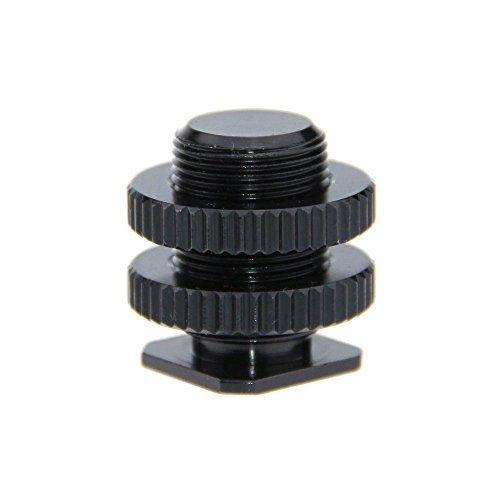 CAMVATE 5/8-zoll-27 Stecker Gewinde Cold Shoe Adapter auf Blitzschuh für Mikrofon Mount