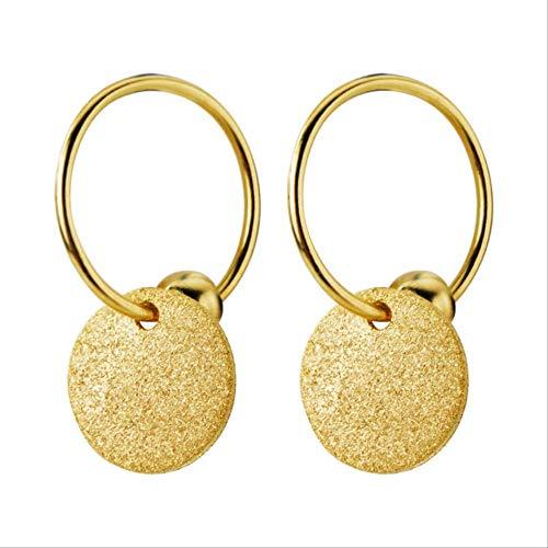 KBWL Orecchini Nuovi orecchini pendenti piccoli Attrice Croce a forma di cuore Slice Charm Orecchini piccoliDS1175 Oro B