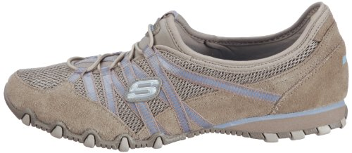 Skechers Bikers-Hot Ticket Women's Shoes – Brown (Taupe/Blue), 8 UK