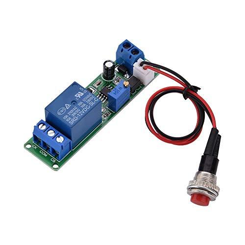 Aufee Módulo Temporizador, retardo del Temporizador Ajustable de CC 12V Interruptor de Tiempo del módulo de Apagado 1~10 Segundos, es un módulo de relé Temporizador con Alta precisión
