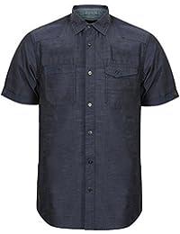 Chemise Pour Hommes Dissident Roulé Manche Courte Style Militaire Coton DécontractéÉté