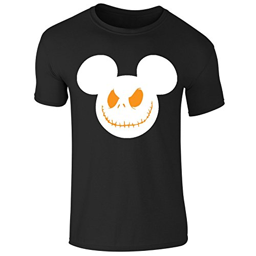 (New Childrens Kids Boys Girls Scary Smile Mouse Haloween Costume T Shirt Top Tee (Kids 13-14 Years) Black)
