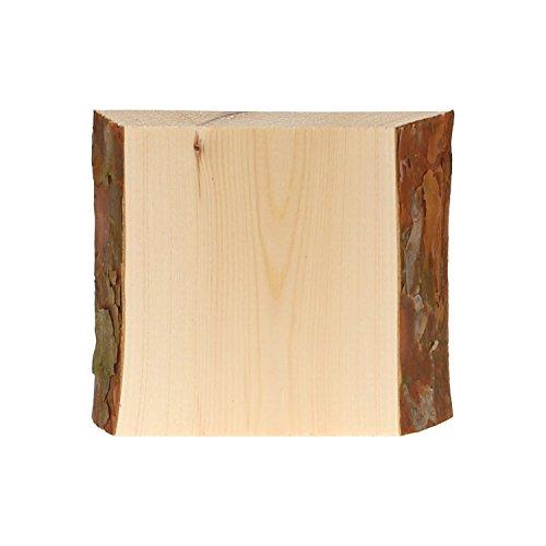 Rindenbrett in natur, Holztbrett, Baumscheibe, Servierbrett verschiedene Größen, Brettgröße:20 x 14-19 x 2 cm