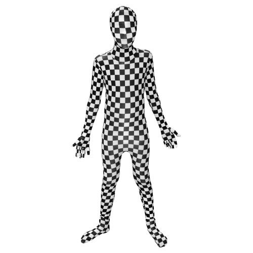 Generique - Schachbrett Morphsuits Kostüm für Kinder 122/134 (8-10 Jahre) (Mor'du Kostüm)